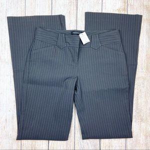 New EXPRESS Brown Stripe Editor Flare Leg Pants